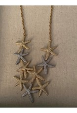 Fame Accessories Fame Silver and gold star necklace