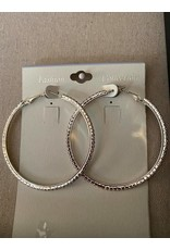 Fame Accessories Fame extra large rhinestone hoop earrings