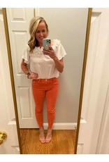 """Liverpool Liverpool Abby Ankle Skinny Cut Hem 28"""" Hot Coral"""