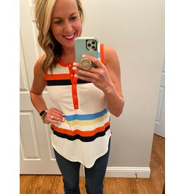 Hailey & Co Multi Color Striped Sleeveless Top