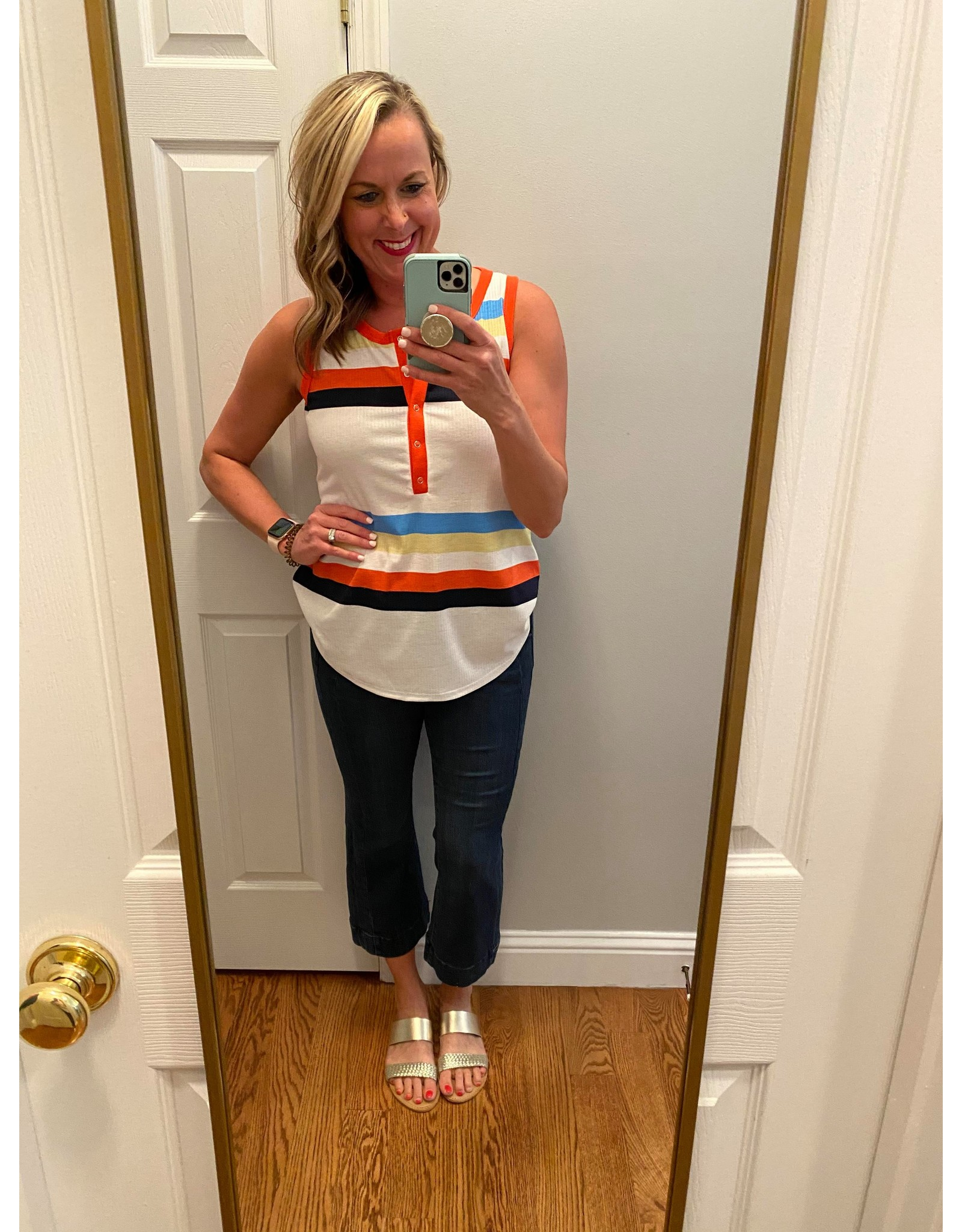 Hailey & Co Multi Color Striped Sleeveless Top