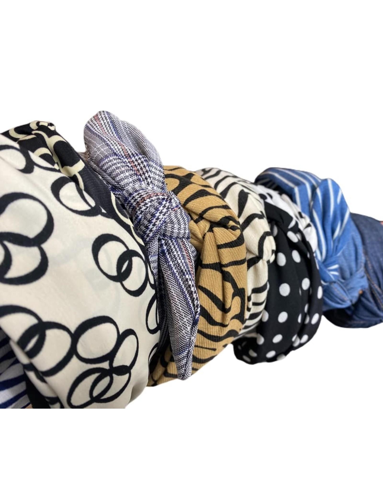 Merville Polka dot and stripe headband