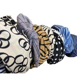 Merville Blue striped headband