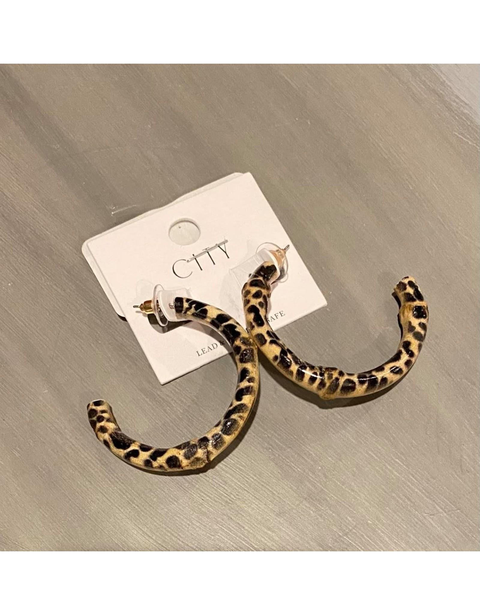Merville Animal print hoop earrings