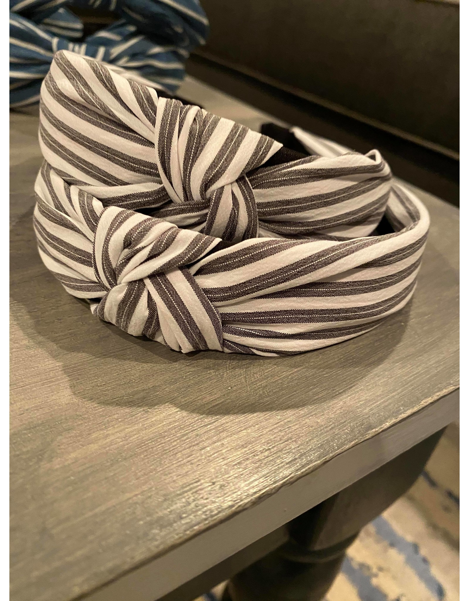 Merville Striped seersucker headband