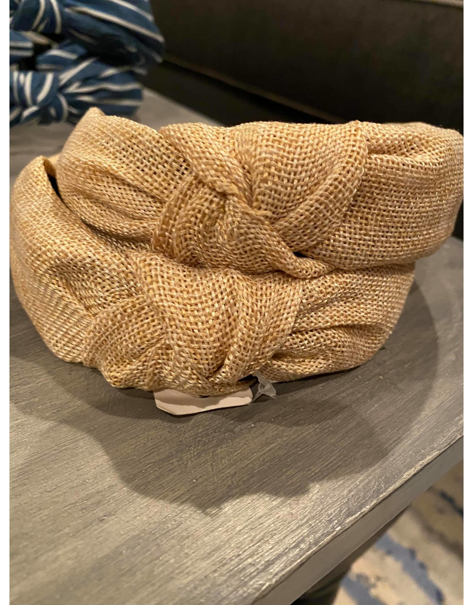 Merville Tan Woven headband