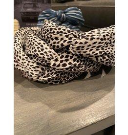 Merville White animal print headband