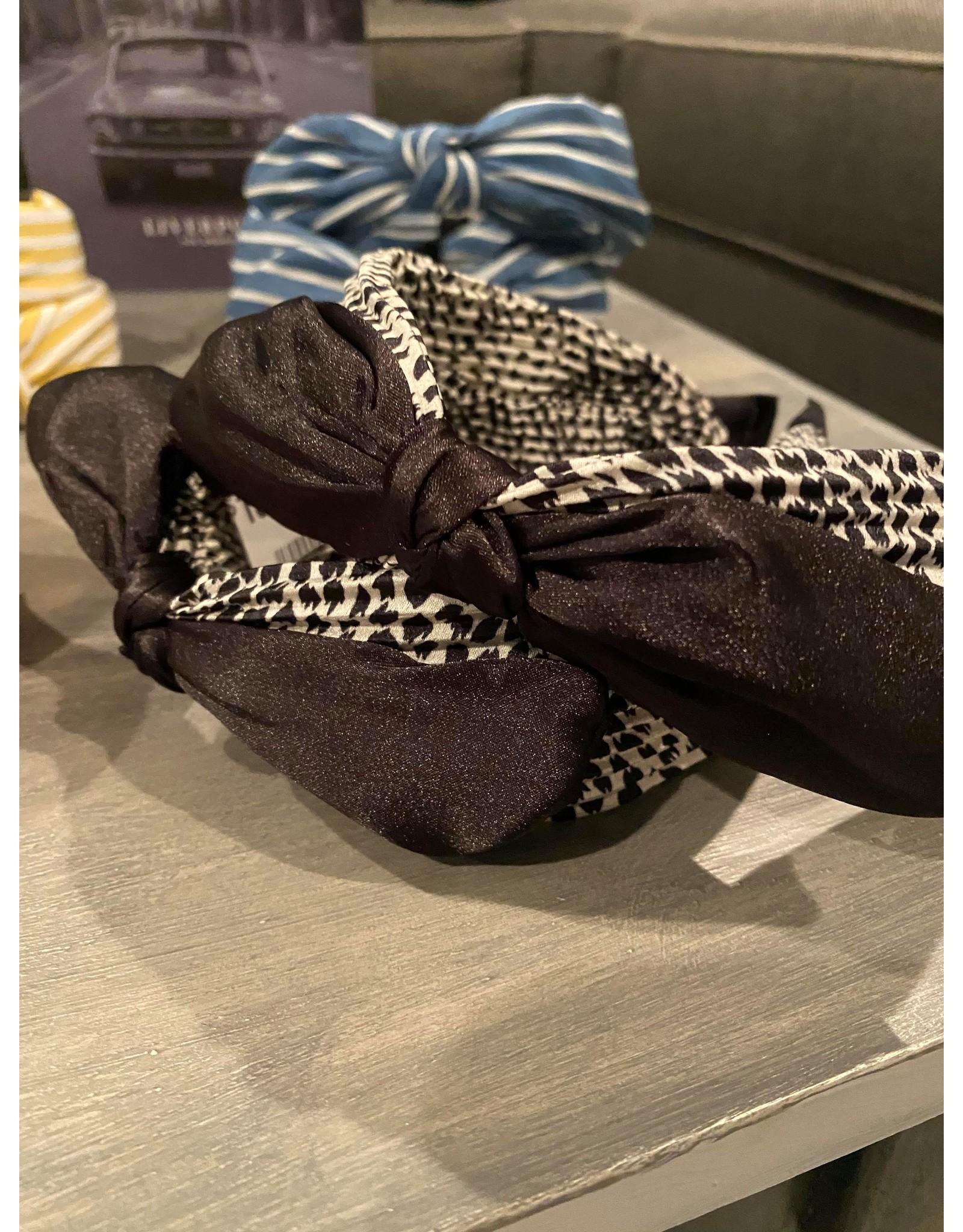 Merville Pleated animal print headband