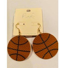 Basketball dangle earrings