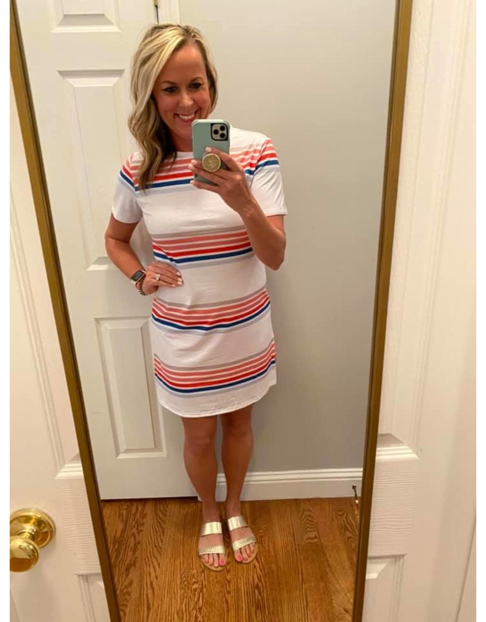 Shewin Striped t-shirt dress