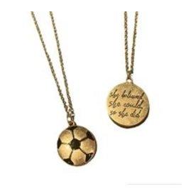 MYS Wholesale Soccer necklace gold
