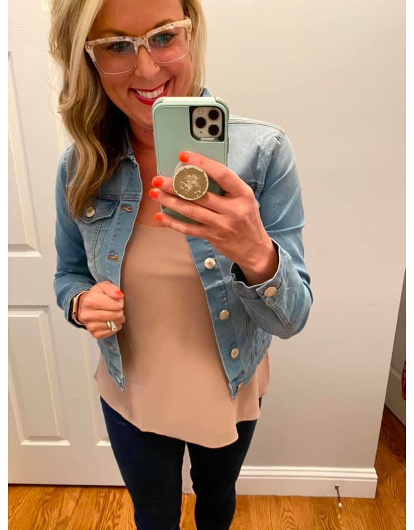 Blue Age Denim jacket with stretch