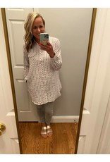Mystree Striped shirt tunic with back tie