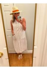 Mystree Stripe longline shirt dress