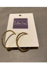 Gold rhinestone hoops