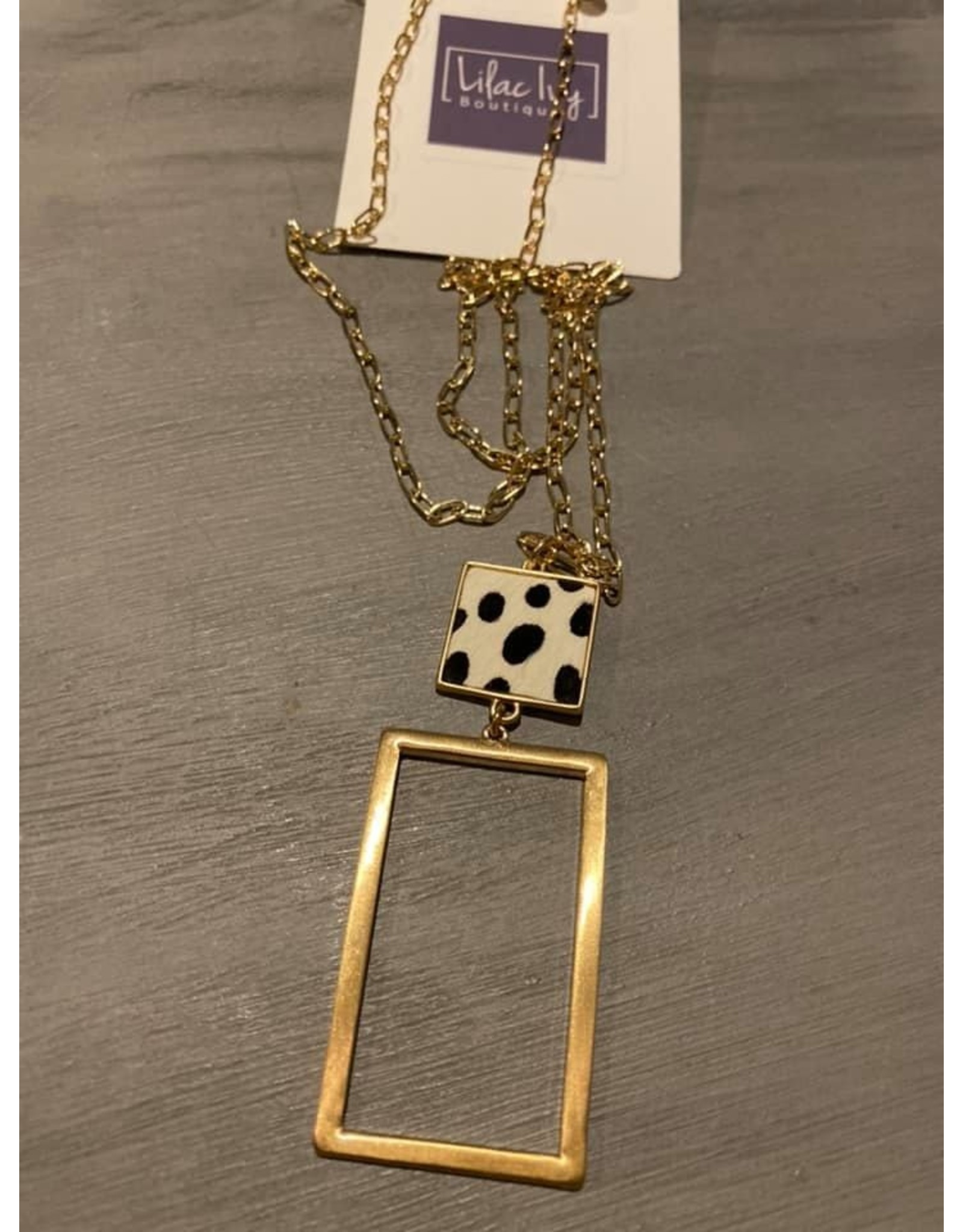 Long Chain with gold rectangle