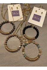Long chain with bead circle - choose color!