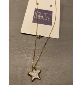 Druzy star pendant