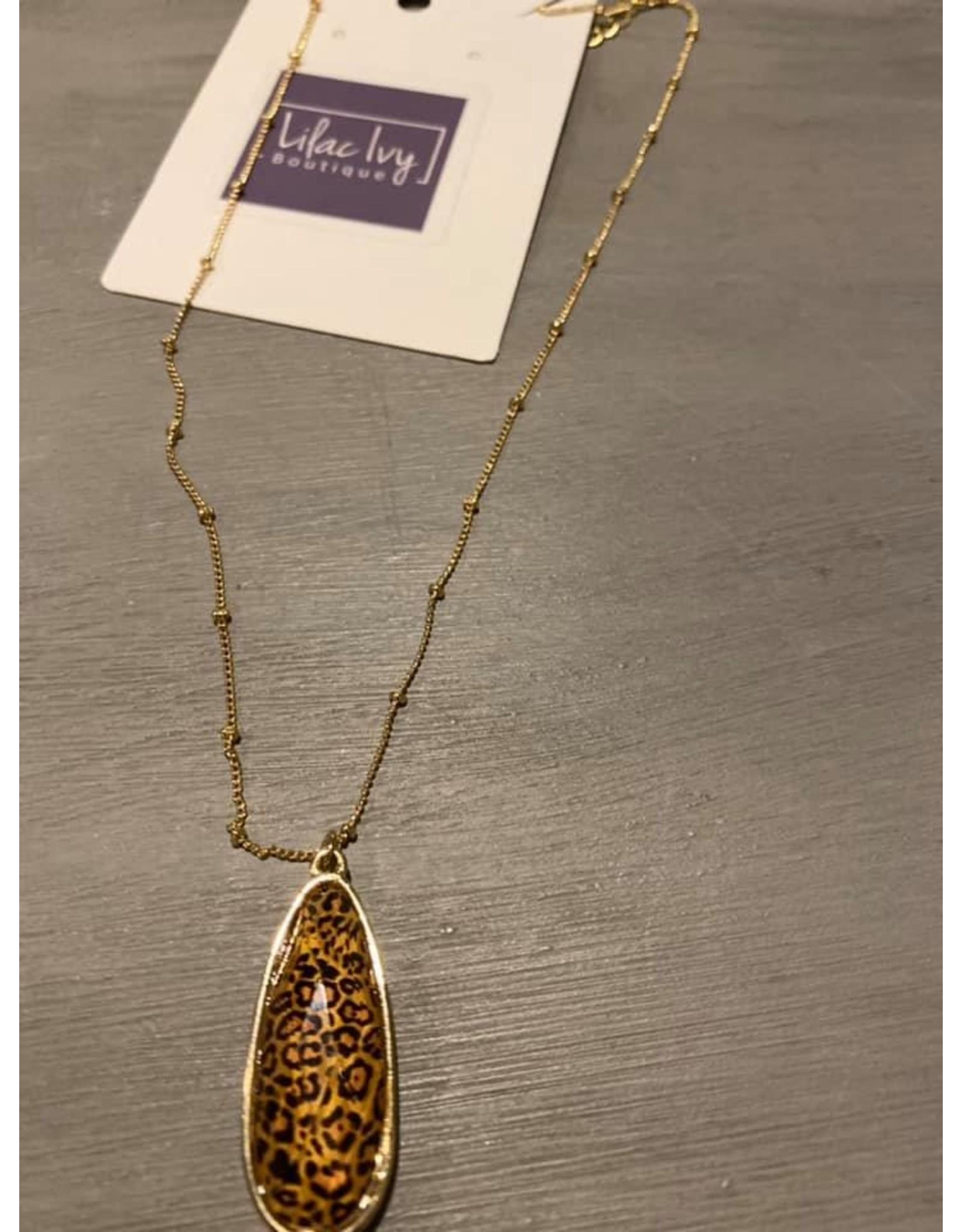 Gold Leopard Pendant