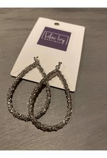 Large Oval dangle earrings - silver or gold