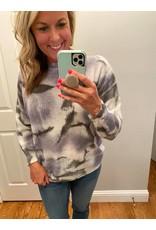 Adora Tie dye round neck sweater