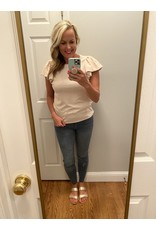 Vision Bubble puff sleeve top oatmeal