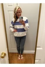 Voy Striped long sleeve sweat shirt navy