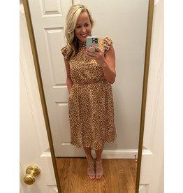 Voy Angela print midi dress
