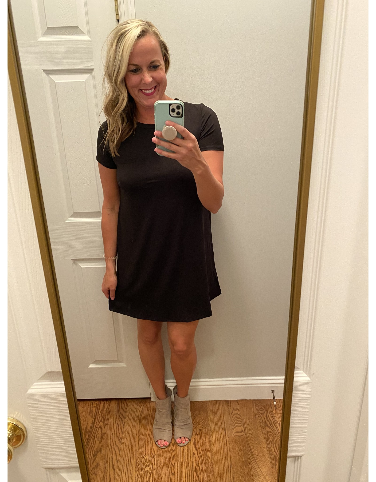 Mittoshop Round neck one pocket tee dress