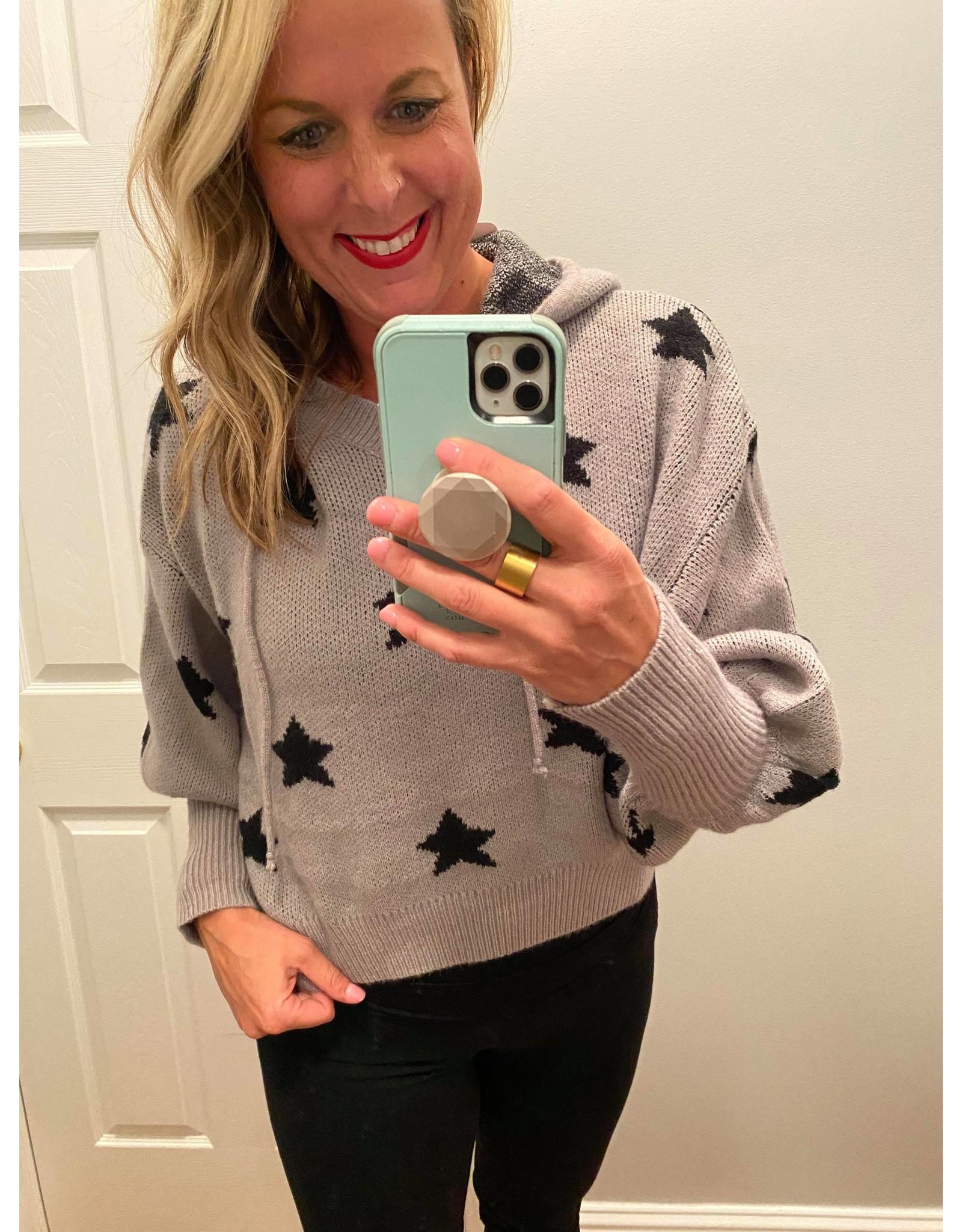 Sweet Lovely by Jen Star patch baoon sleeve hoodie