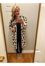 Sweet Lovely by Jen Leopard print long sleeve cardigan