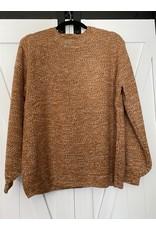 Zenana Baloon sleeve melange sweater rust