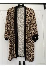 Zenana Leopard print kimono