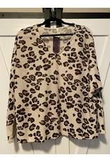 Mittoshop Leopard v-neck dolman long sleeve top