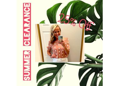 Summer Clearance - 50% Off