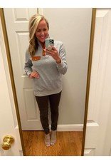 Shewin Quilted long sleeve top grey