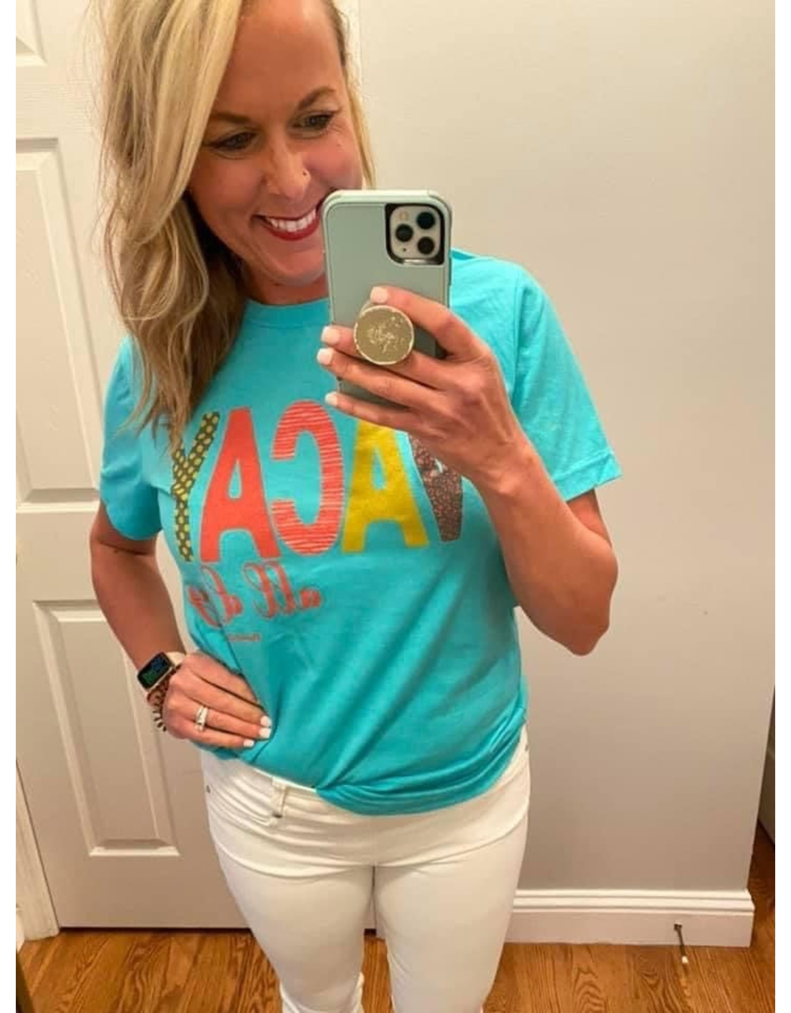 Vacay all day graphic t