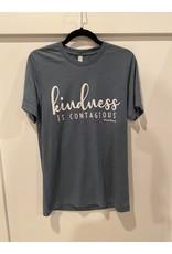 Kindness graphic t blue or mauve