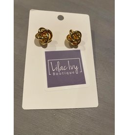 What's Hot Gold knot earrings