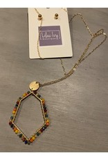 What's Hot Multi colored Crystal geometric necklace