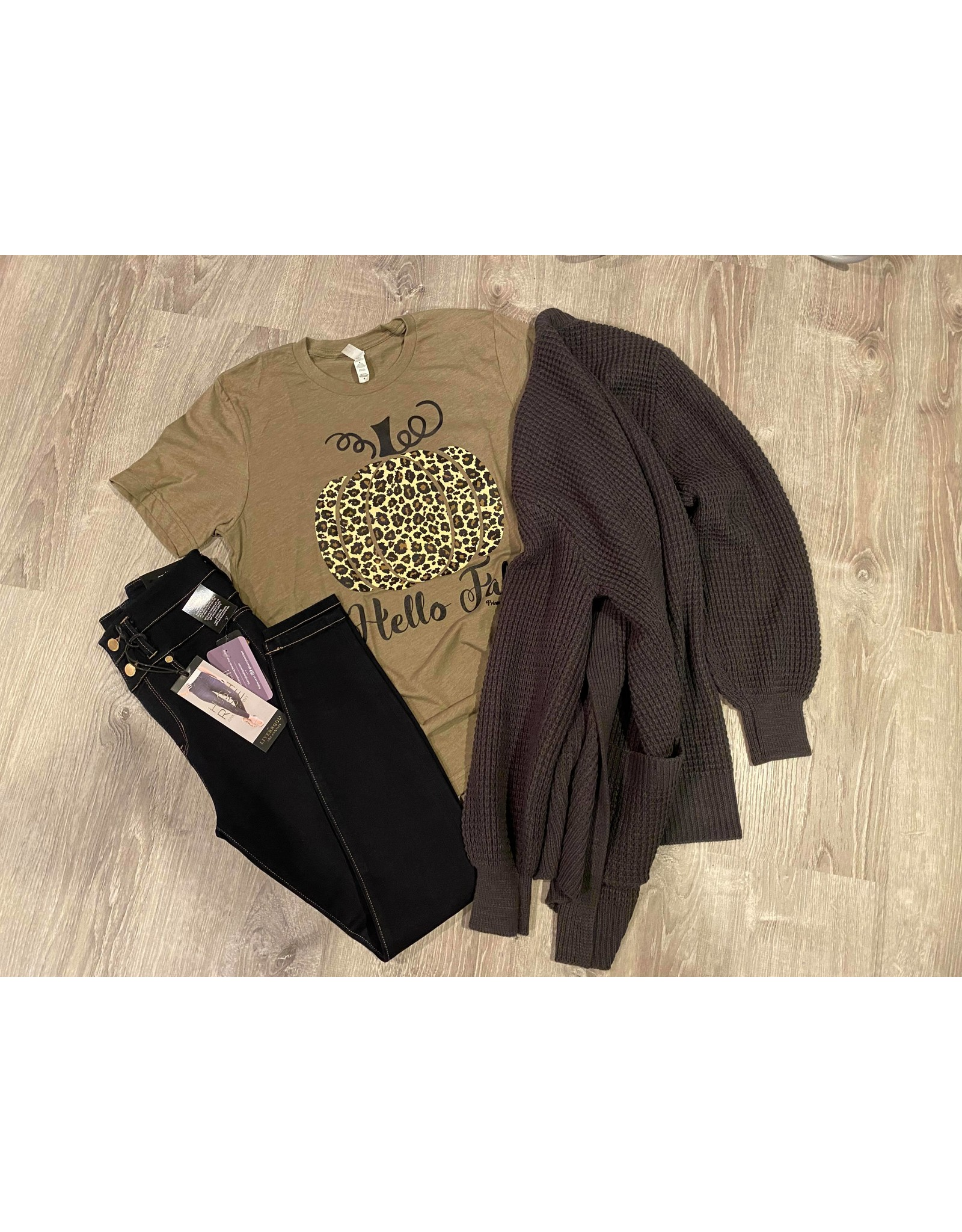 Hello fall graphic t olive