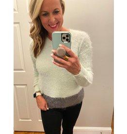 Solution Color block v-neck sweater