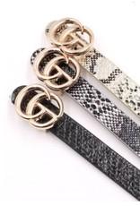Artbox Skinny belt snakeskin
