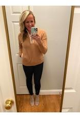 Shewin High neck 3/4 zip pocket sweater khaki