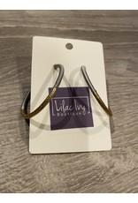 What's Hot Gray threaded hoop earrings