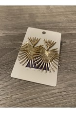What's Hot Gold and silver geometric stud earrings