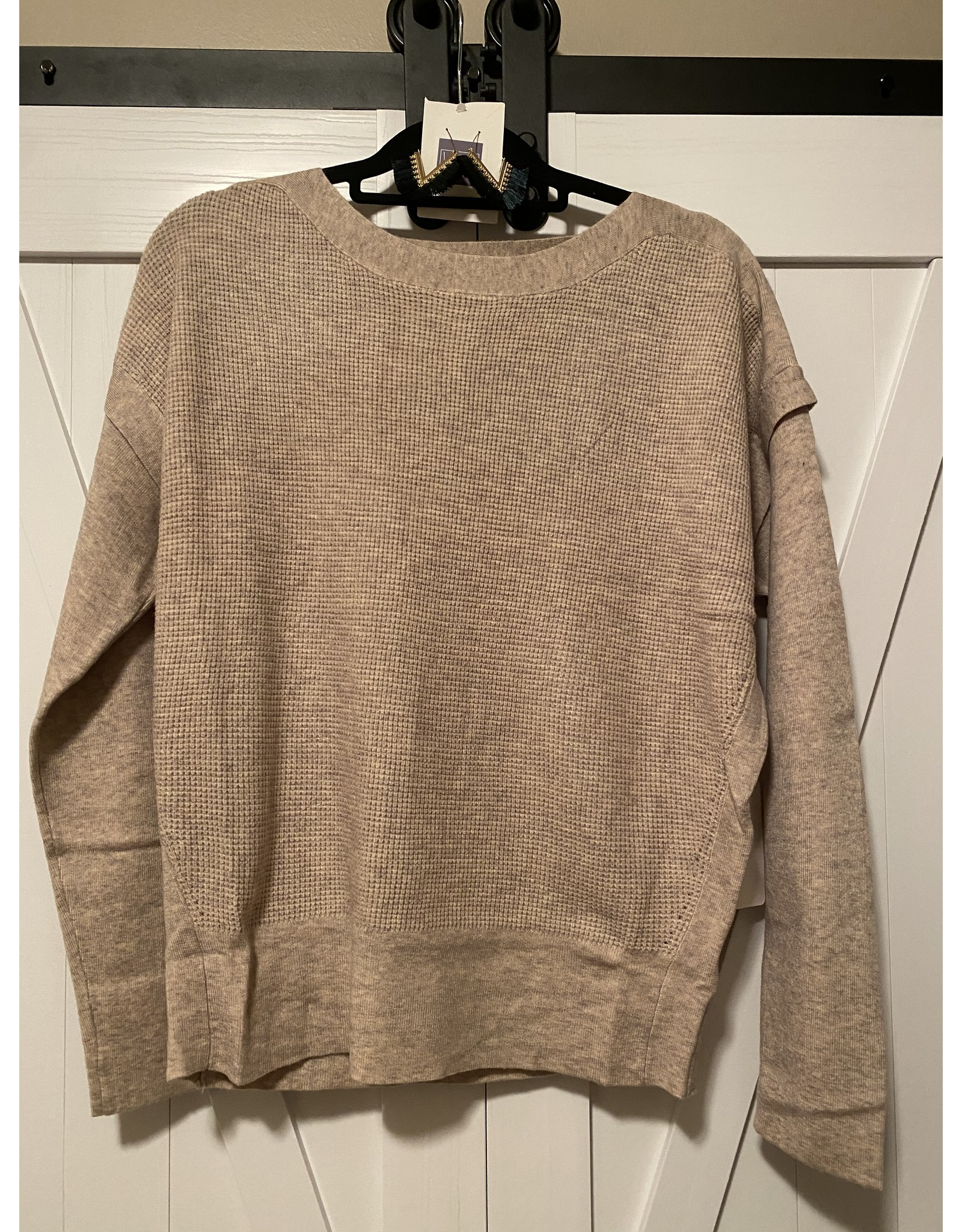 Fate Waffle knit drop shoulder sweater