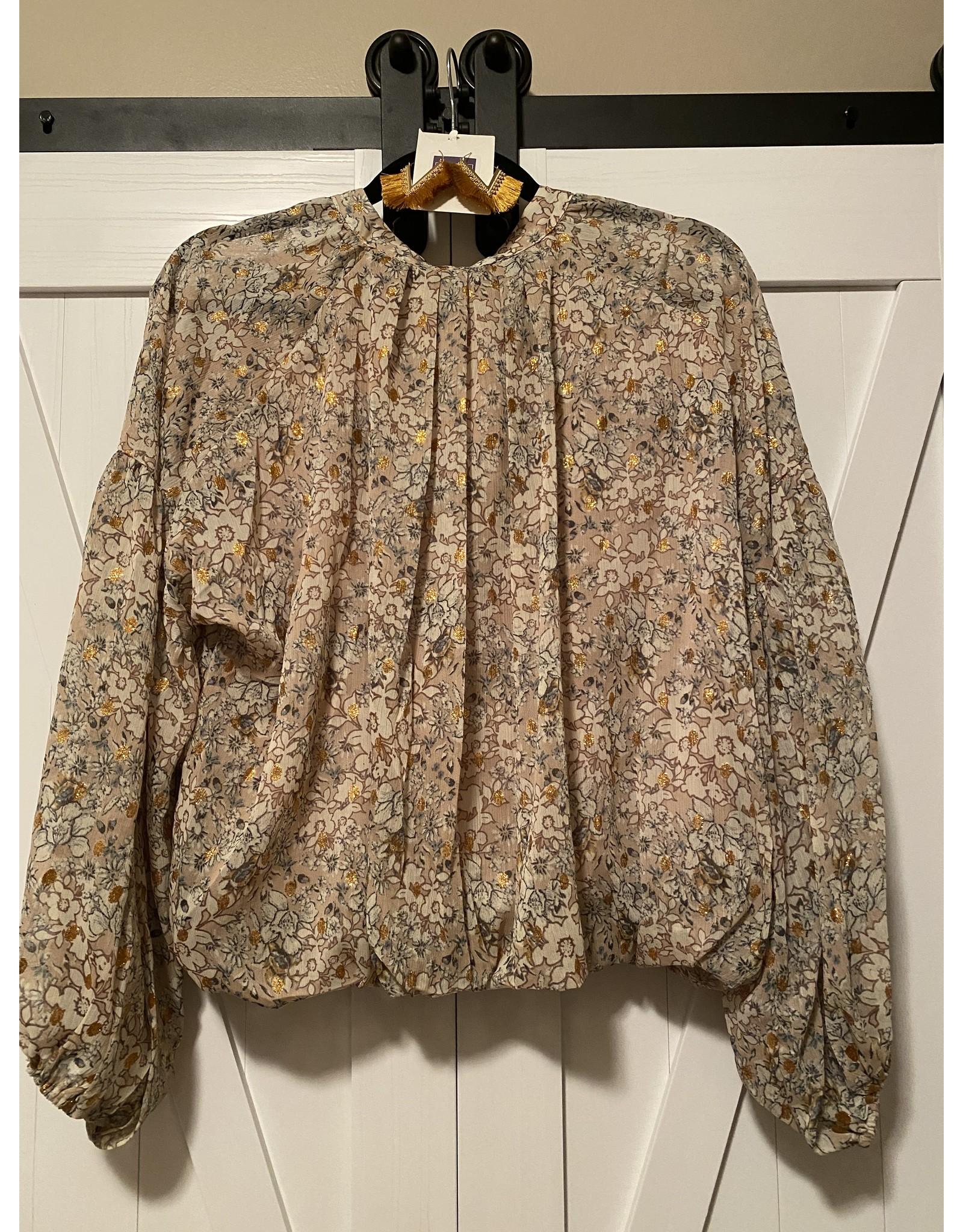 Fate Floral print print crop blouse