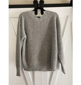 Voy Sweater wth back tie heather gray