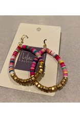 What's Hot Multi color and gold teardrop  earrings